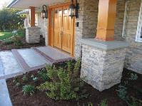 stone and brick entry